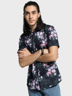 Mr Button Digital Floral Print Shirt