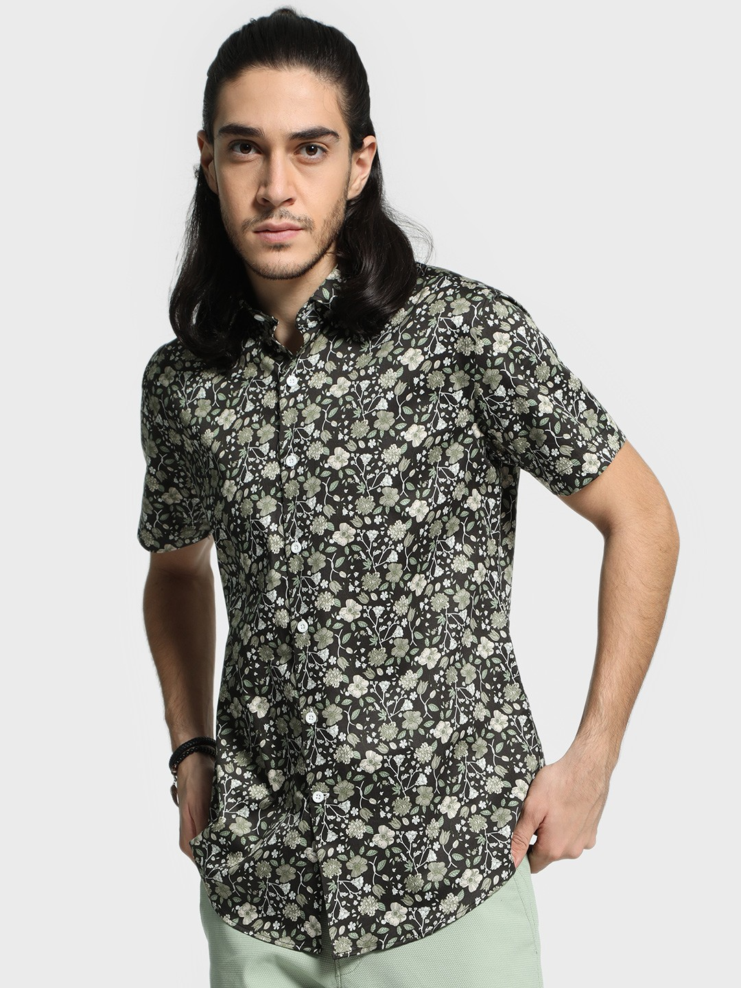Mr Button Multi All Over Floral Print Shirt 1