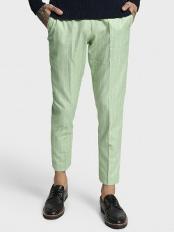 Mr Button Pinstripe Woven Slim Trousers