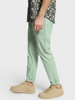 Mr Button Dobby Textured Slim Trousers