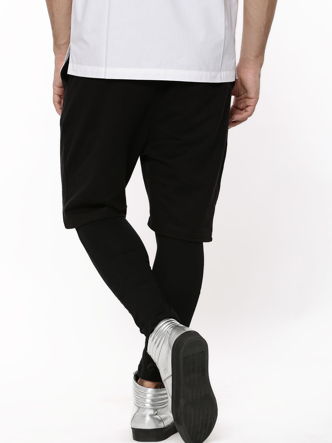Buy Shorts And Leggings Combo For Men Men S Black Skinny