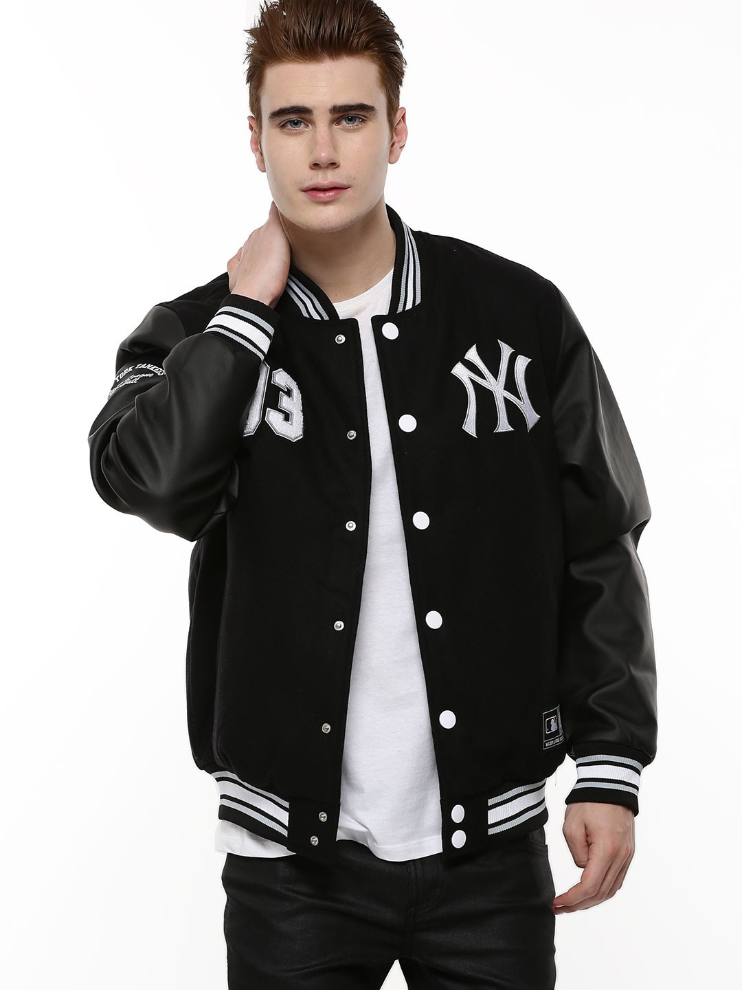 Buy Majestic Black Official Licensed Ny Yankees Letterman