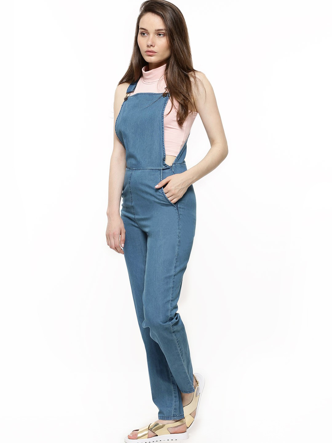 Buy Soft Touch Denim Dungaree For Women Women S Blue