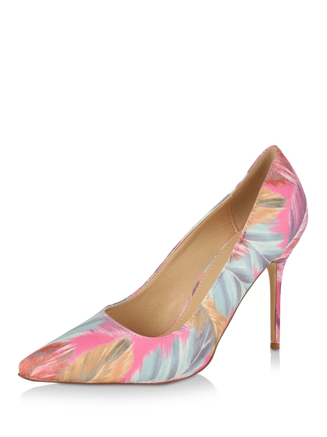 Liliana Pastel Multi Floral Print Heeled Shoes 1