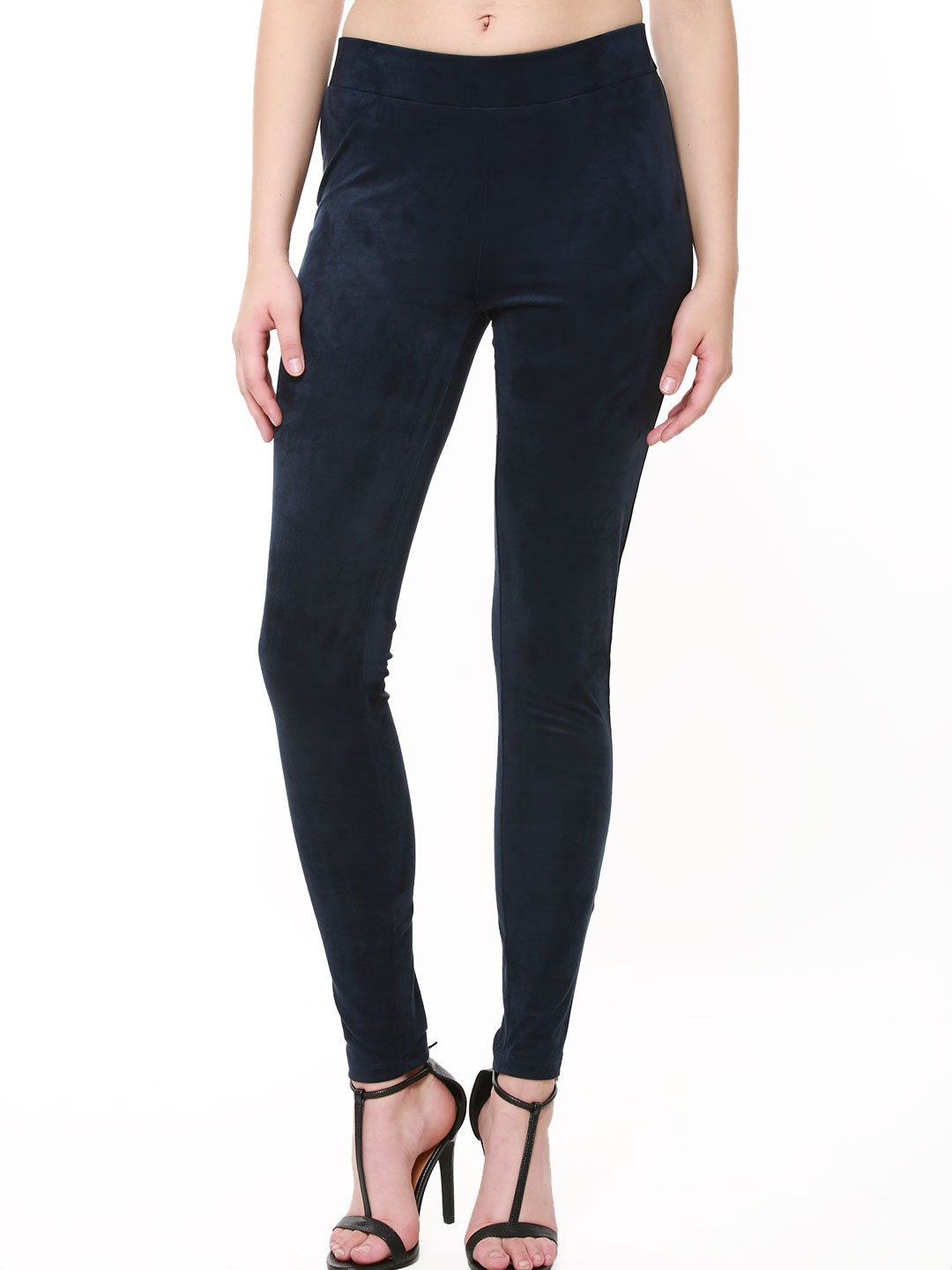 First and I Navy FIRST & I Skinny Suedette Leggings 1