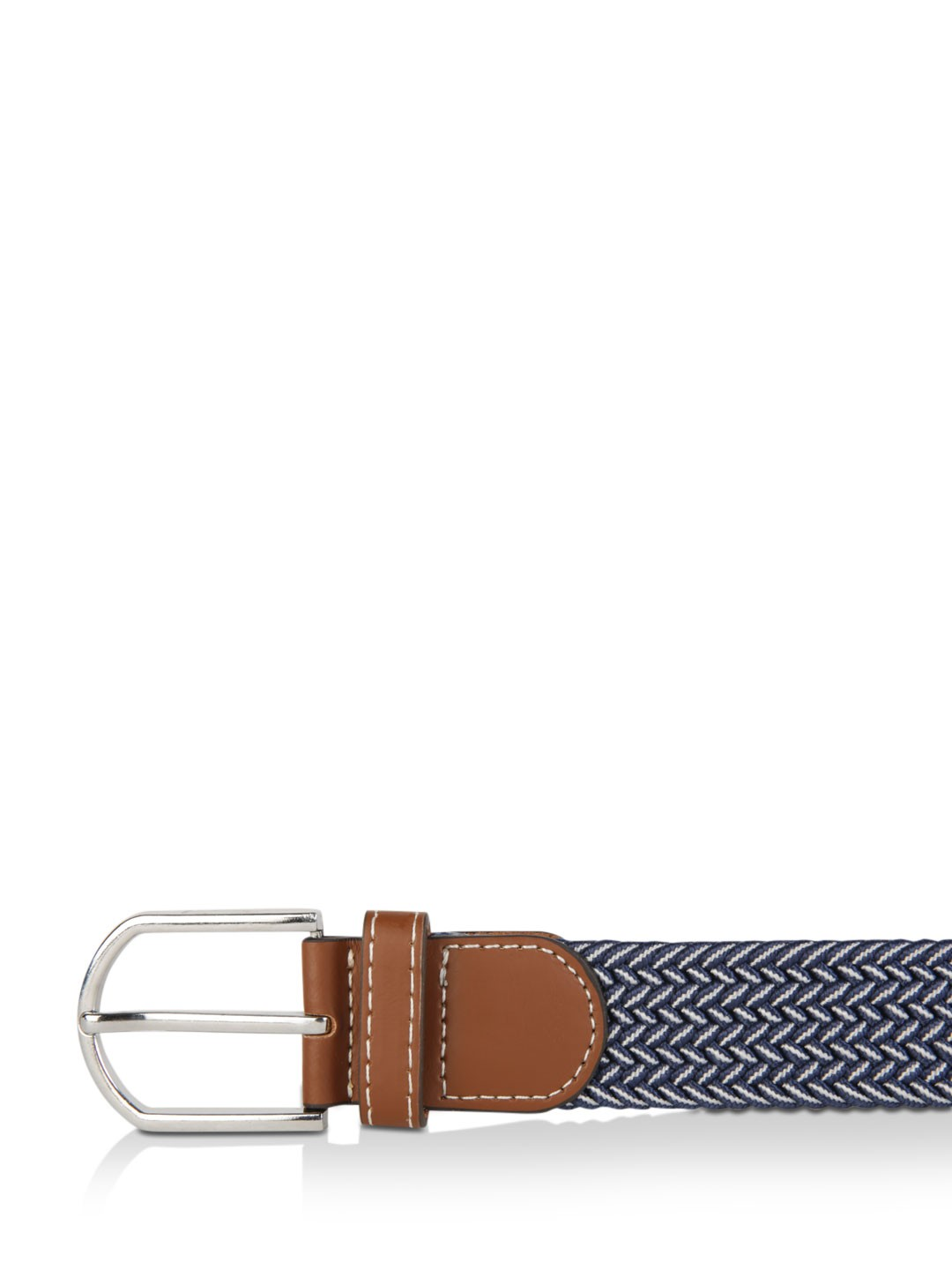 Buy Chasquido Navy/White Multi Tone Yarn Belt for Men ...