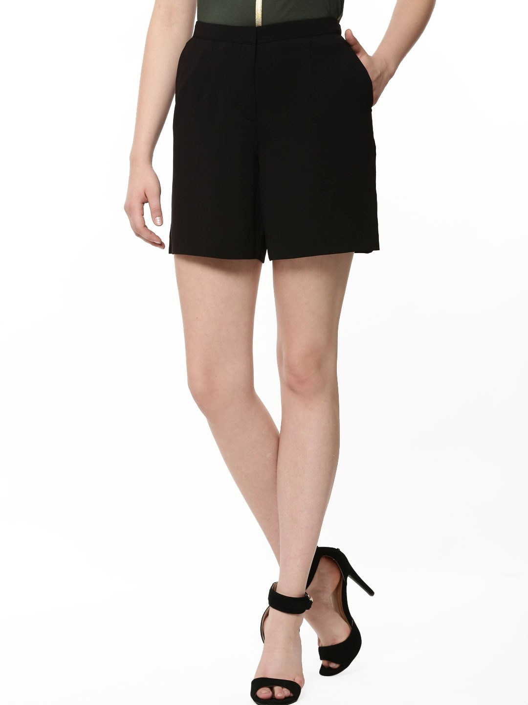 Oasis Black Soft D-ring City Shorts 1