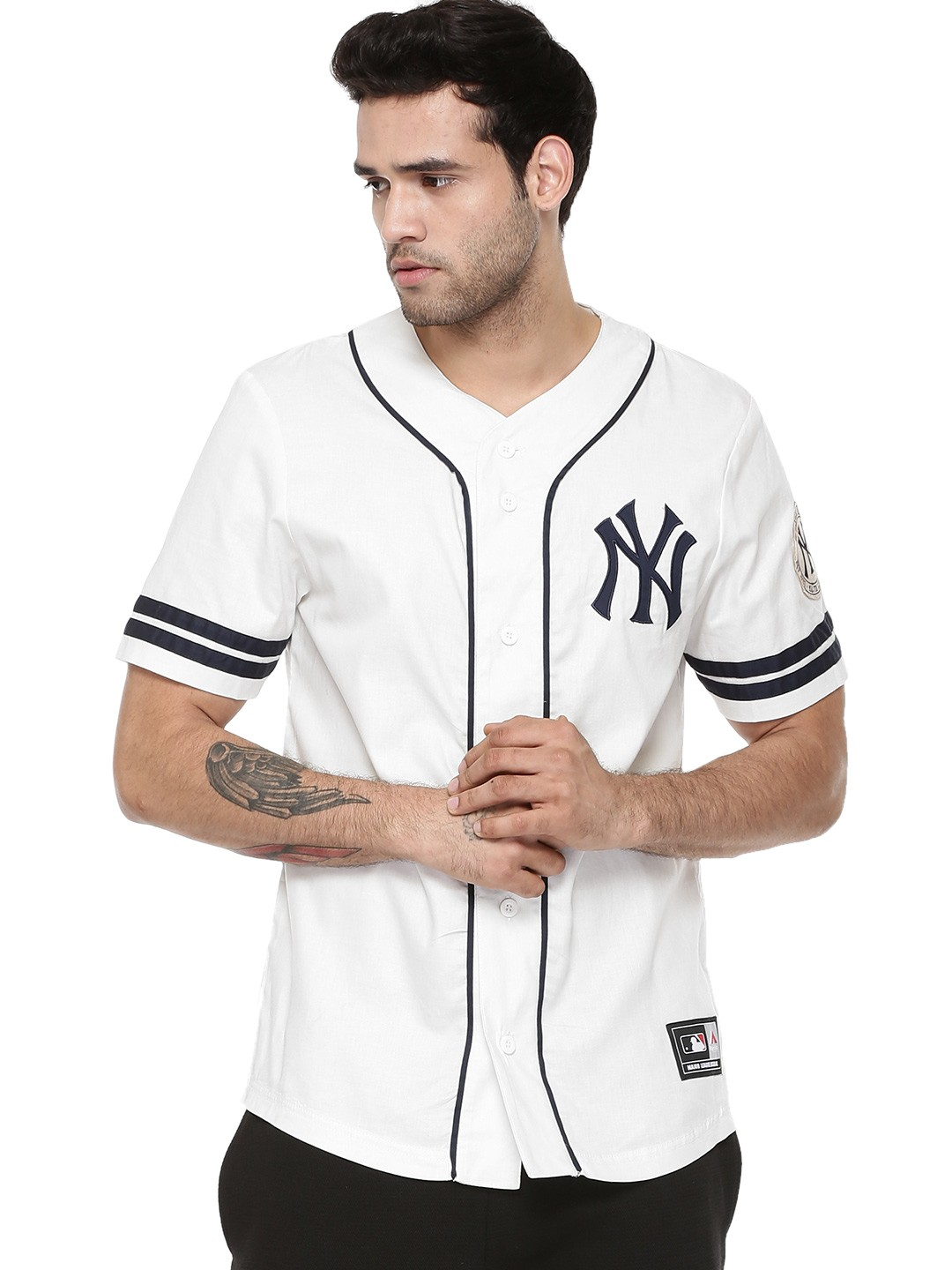 new concept 9a5c2 d1f7b Buy Majestic Cream Official Licensed NY Yankees Baseball ...