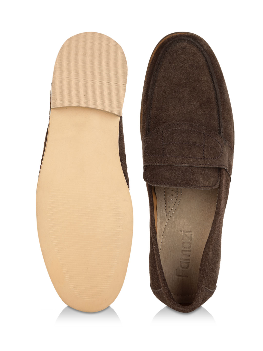 Buy Famozi Brown Penny Loafer Shoes for Men Online in India