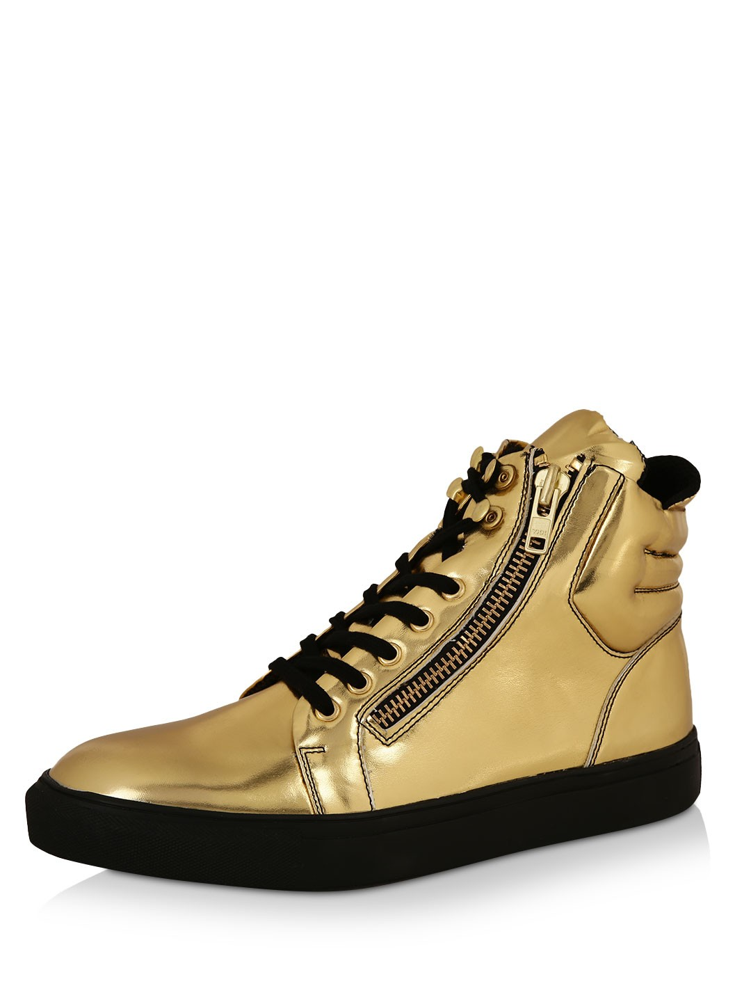 MANISH ARORA FOR KOOVS Gold Zip Detail Hi Top As Seen On Karan Kundra 1
