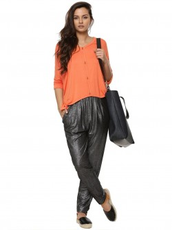 KOOVS Lurex Jersey Trousers
