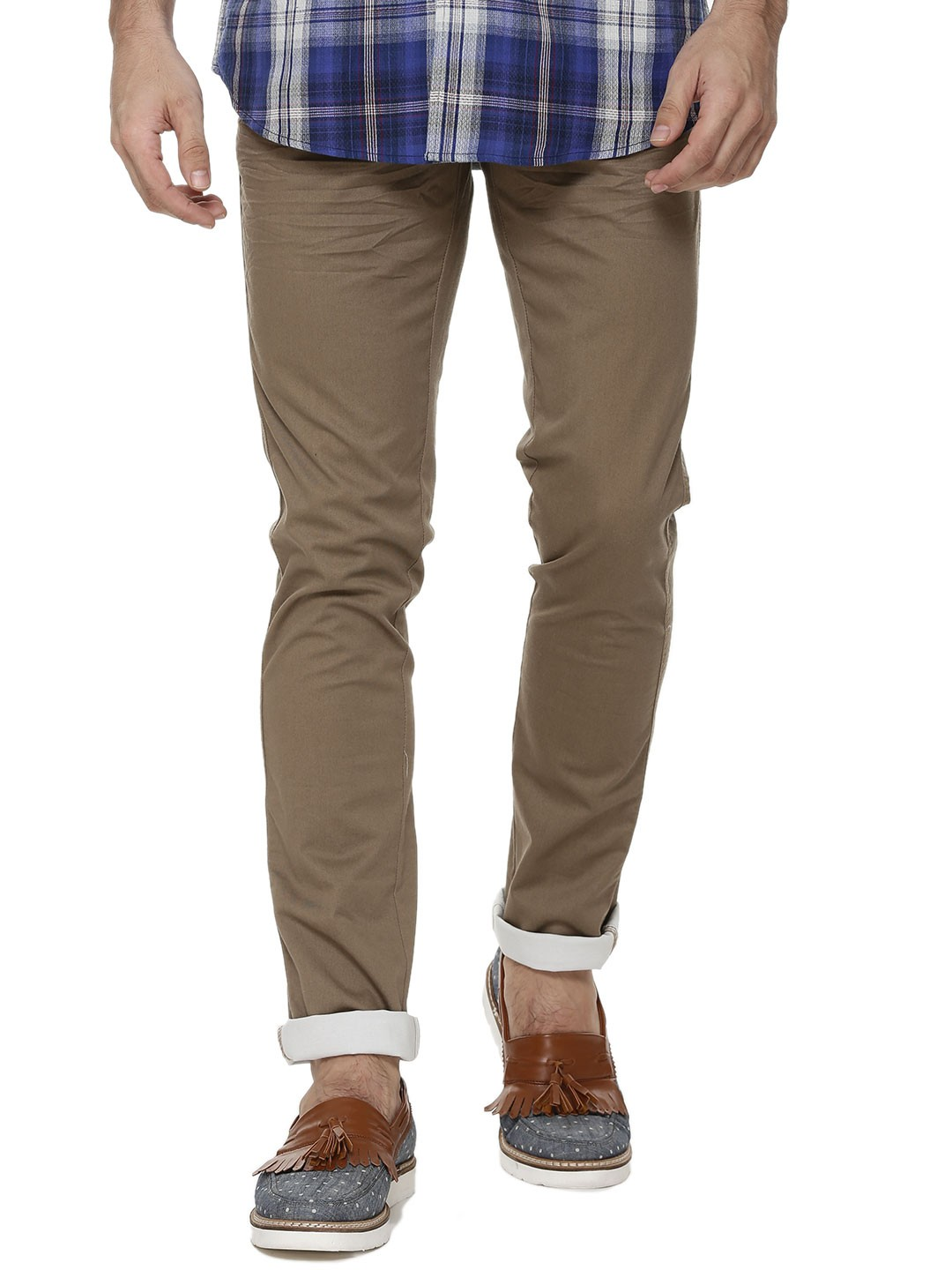 authentic quality limpid in sight cheap for discount Buy Blackberrys Urban TIMBER BROWN Slim Fit Trousers As Seen ...