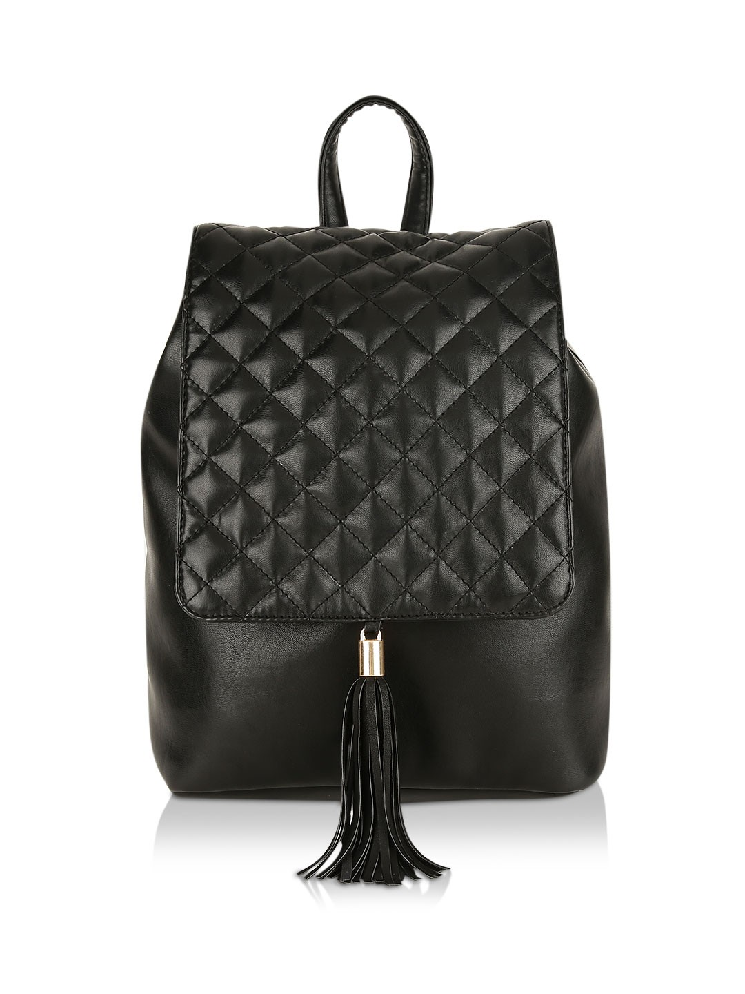 Paris Belle Black Quilted Backpack 1