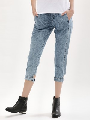 Bhane. Denim Pants With Leg Detail offer