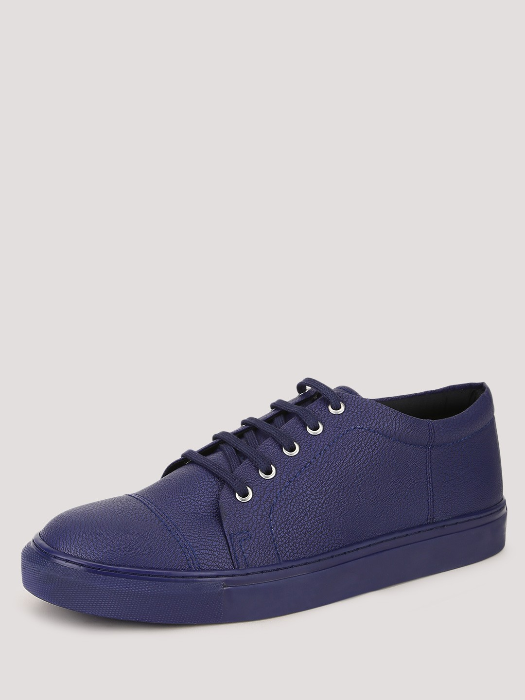 KOOVS Electric Blue Low Lace Up Cupsole Trainers 1