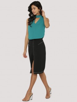KOOVS Stitch Detail Pencil Skirt