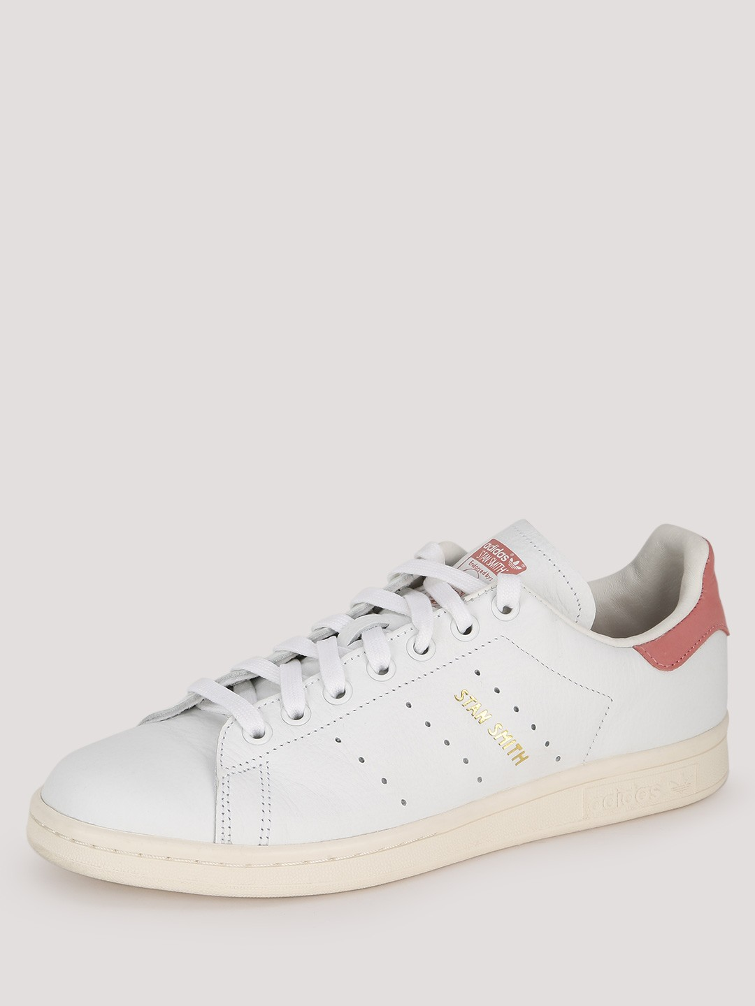 reputable site 439da d65f8 Buy Adidas Originals White/Pink Stan Smith Trainers for ...