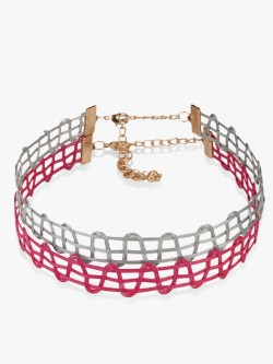 Blueberry Metal Tattoo Chokers (Set Of 2)