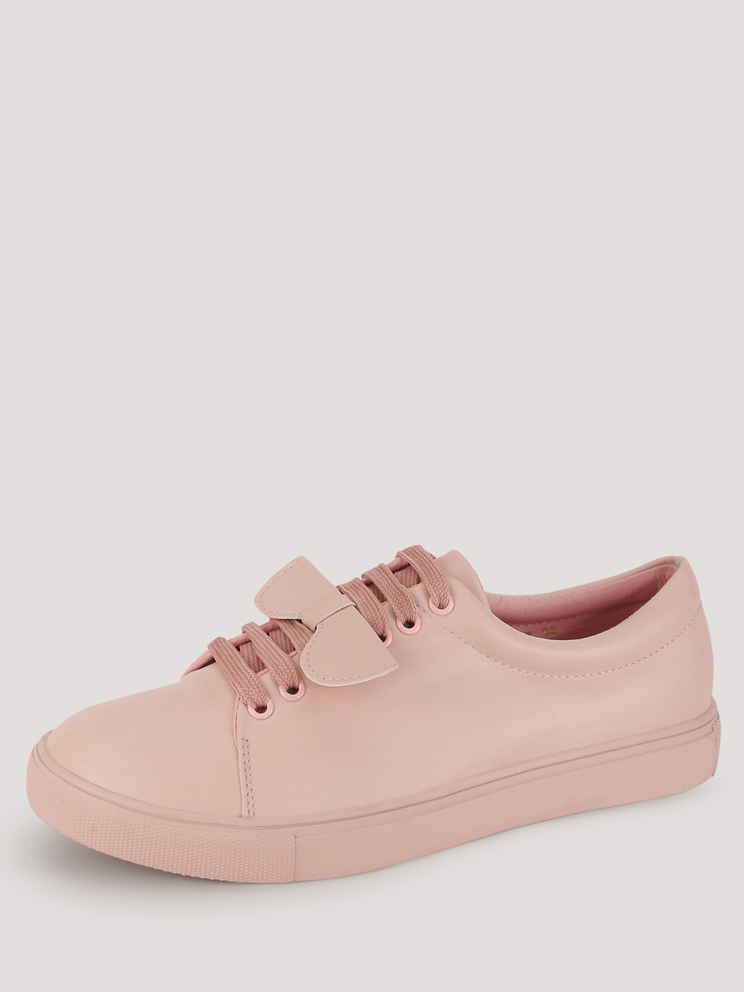Sole Story Blush pink Lace Up Trainers With Sunglass Detail 1