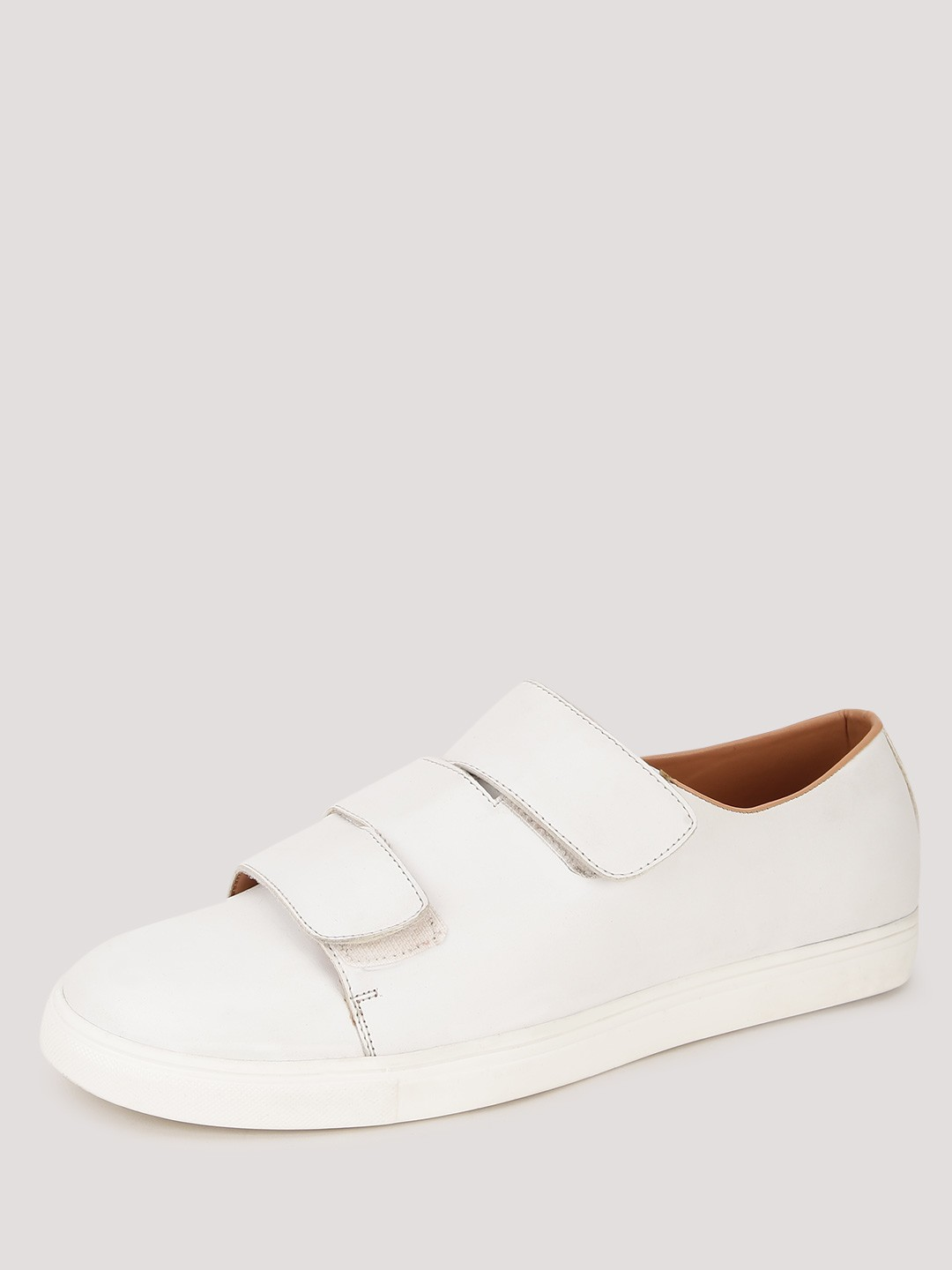 Men S White Casual Shoe With Velcro