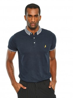 Brave Soul Contrast Collar Polo Shirt