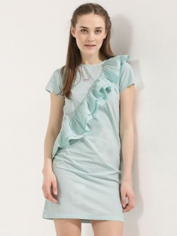 KOOVS Ruffle Front Shift Dress