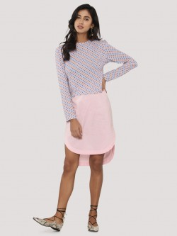 KOOVS Poplin Scoop Midi Skirt