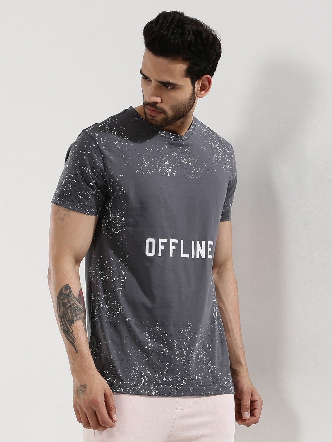 Buy printed t shirt with side snap buttons for men men 39 s for Snap t shirt printing