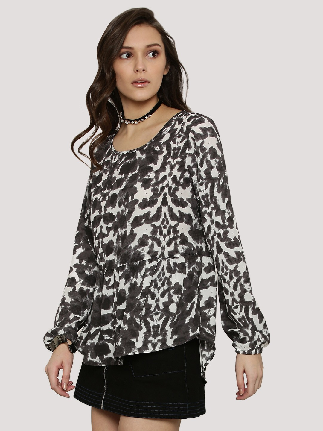 J.D.Y LUNAR ROCK Long Sleeve Peplum Blouse 1