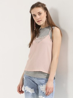 KOOVS 2-in-1 Cami  And Vest Top