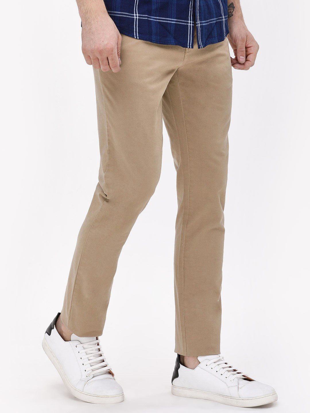Blue Saint Beige Smart Fit Chinos 1