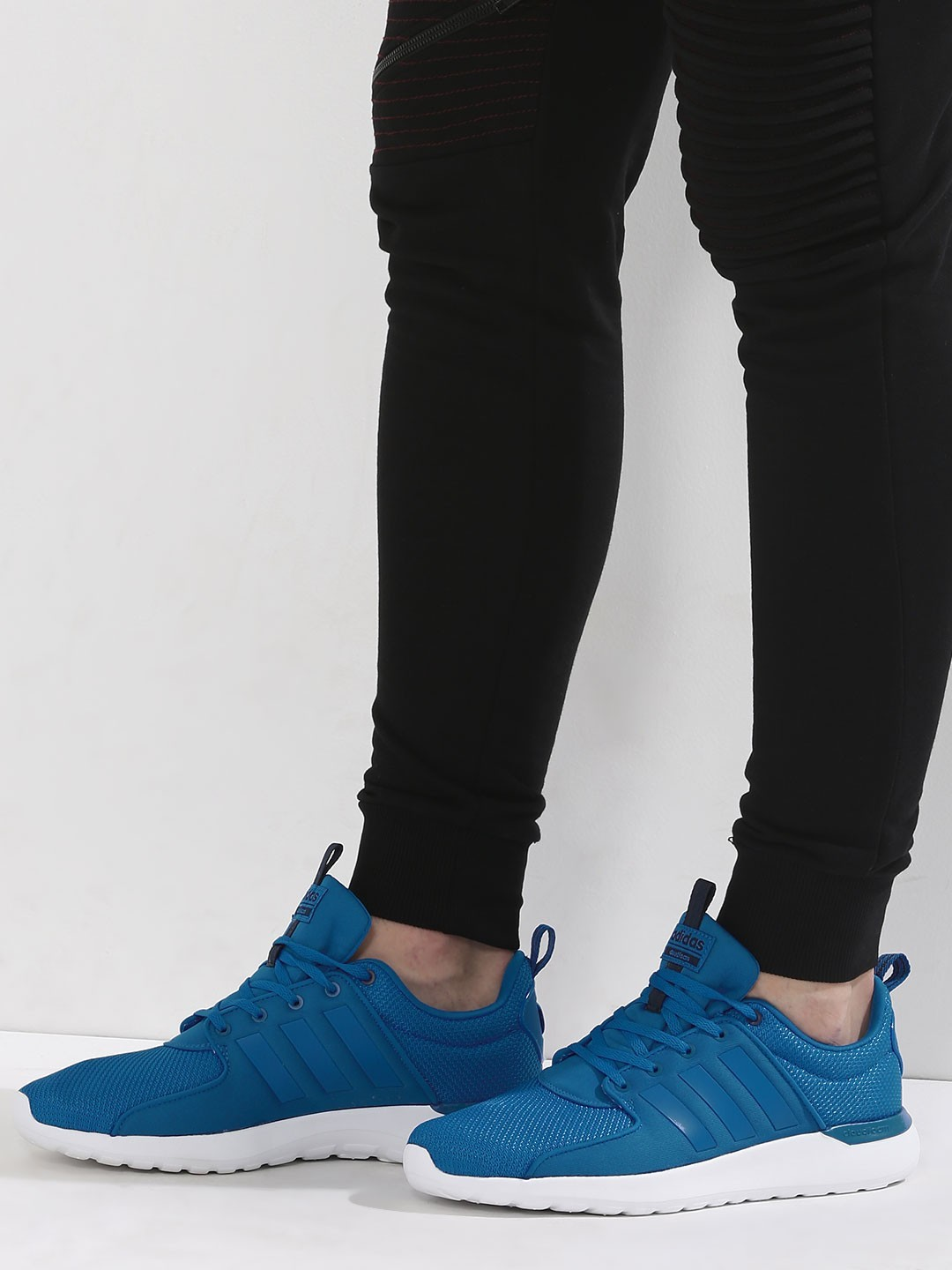 Buy Adidas Neo Blue White Lite Racer Trainer with Cloudfoam