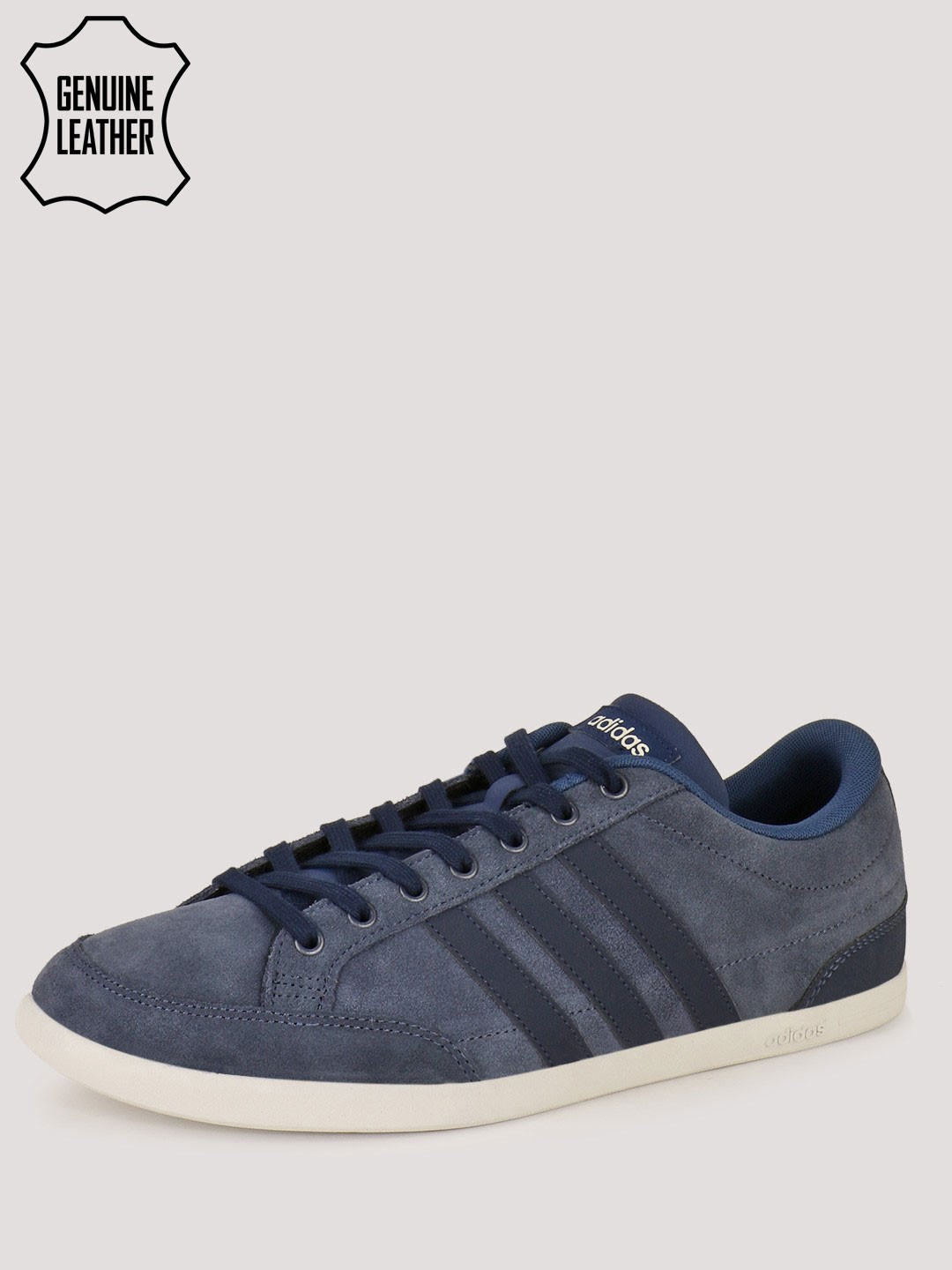 Buy Adidas Neo Navy White Caflaire Sneakers in Suede for