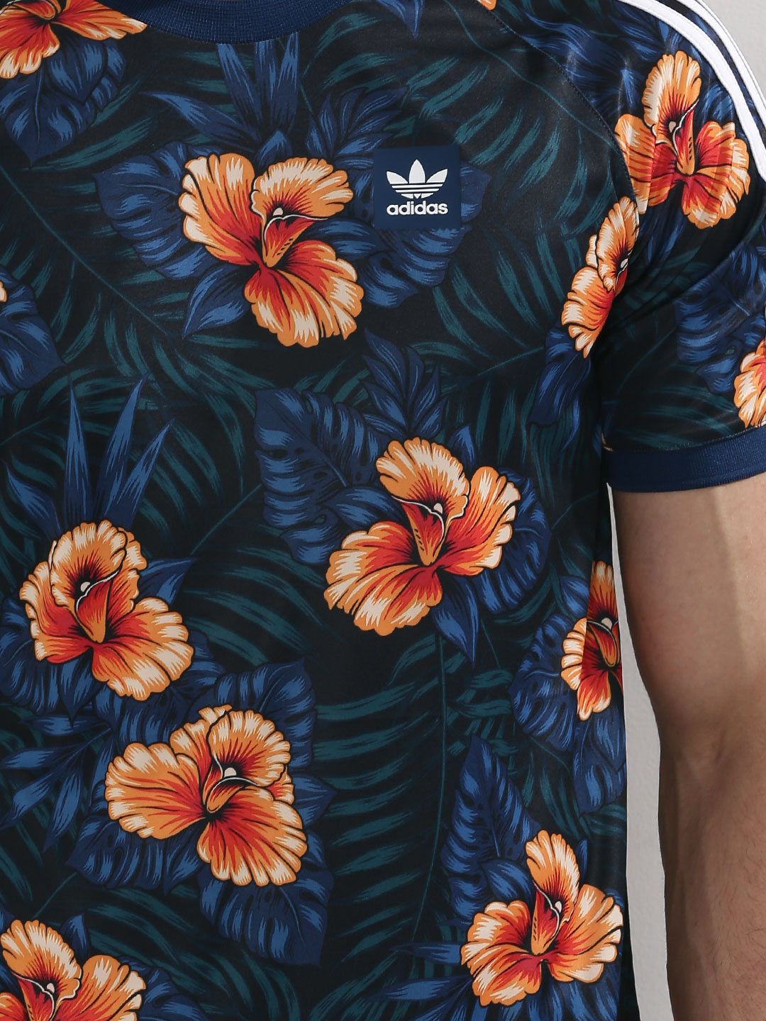 Buy Adidas Originals Multi Floral Jersey With Sleeve Stripe