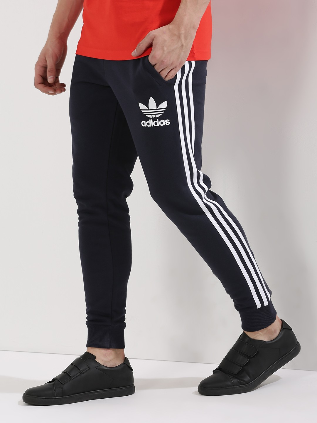 Buy Adidas Originals Blue Side Striped Cuffed Joggers for ...
