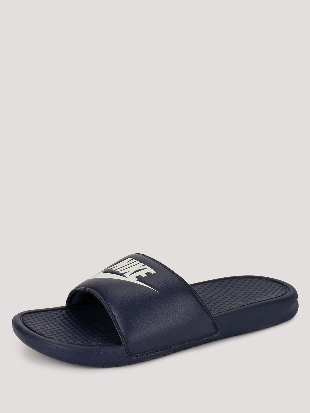 Nike Navy Benassi Sliders 1
