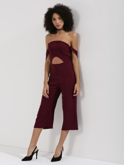 KOOVS Off Shoulder Culotte Jumpsuit