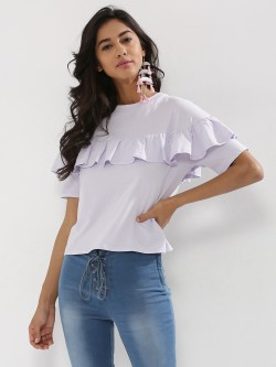 Nobody's Child Frill Front Top