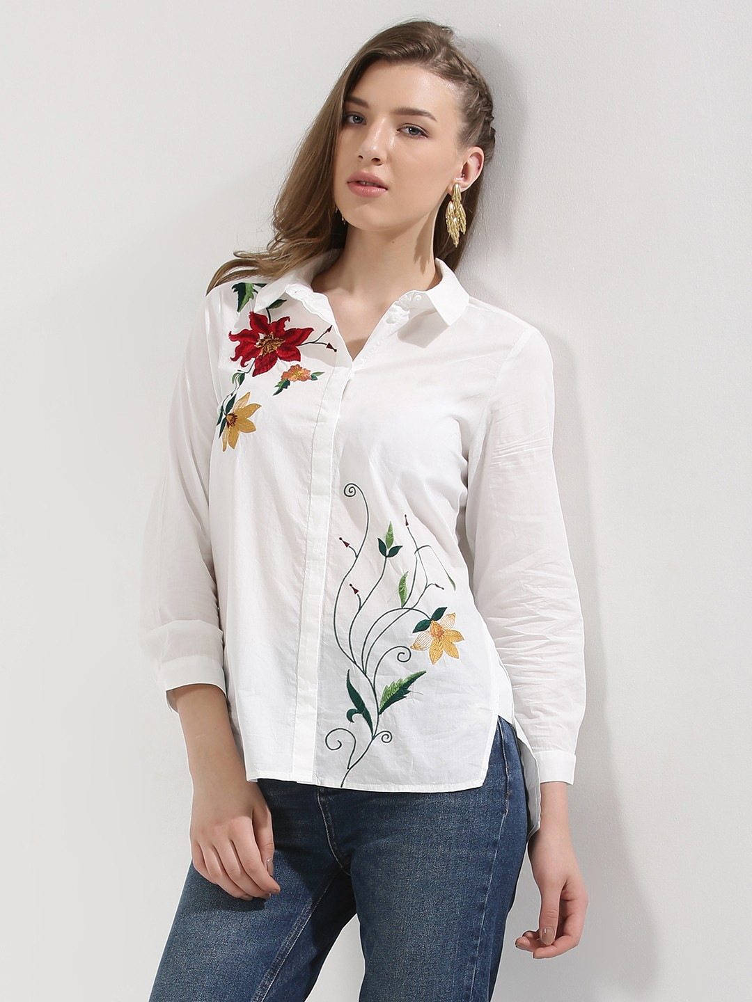 buy embroidered shirt for women women 39 s snow white