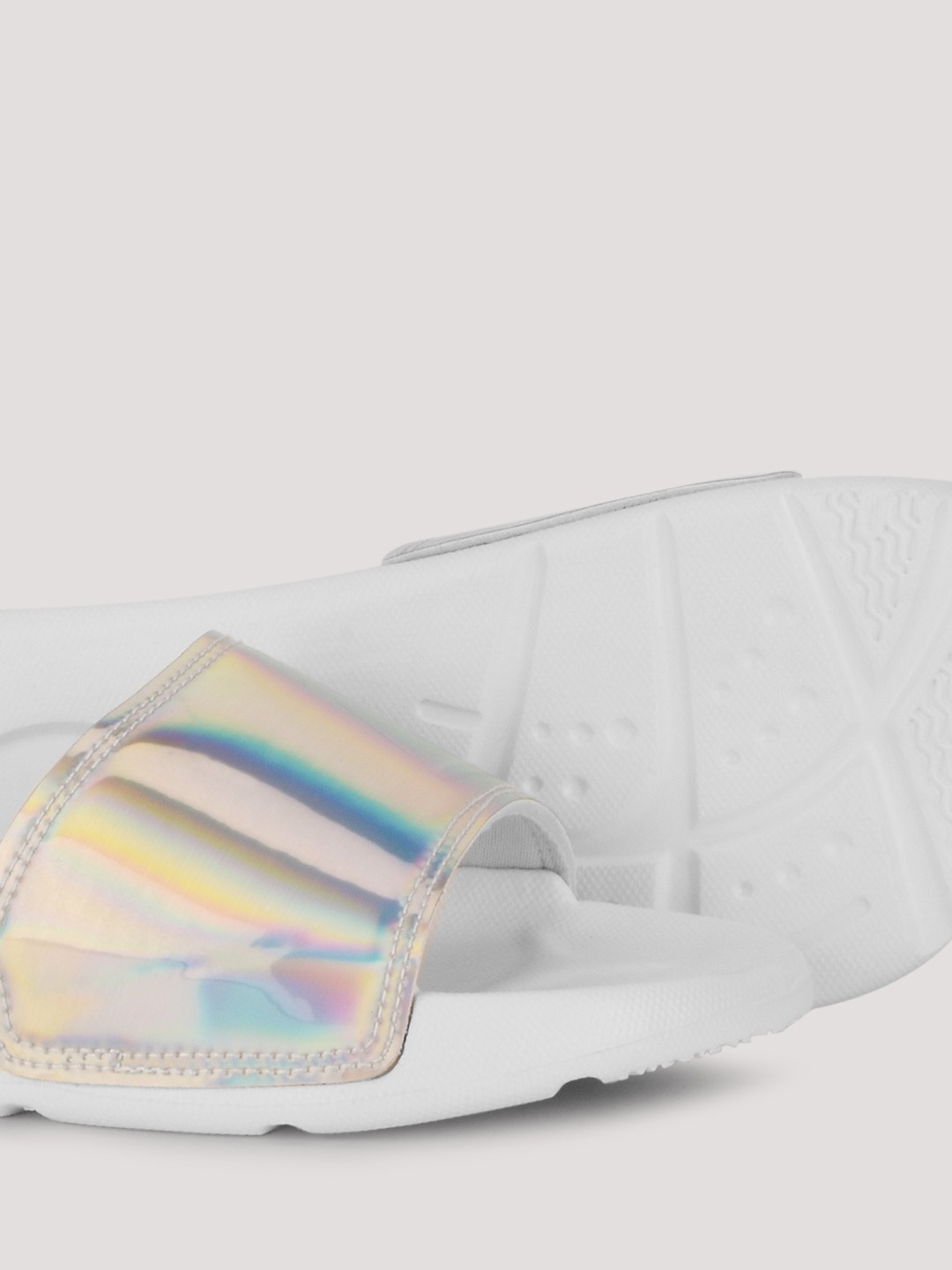 Buy Holographic Pool Sliders For Women Women S Silver
