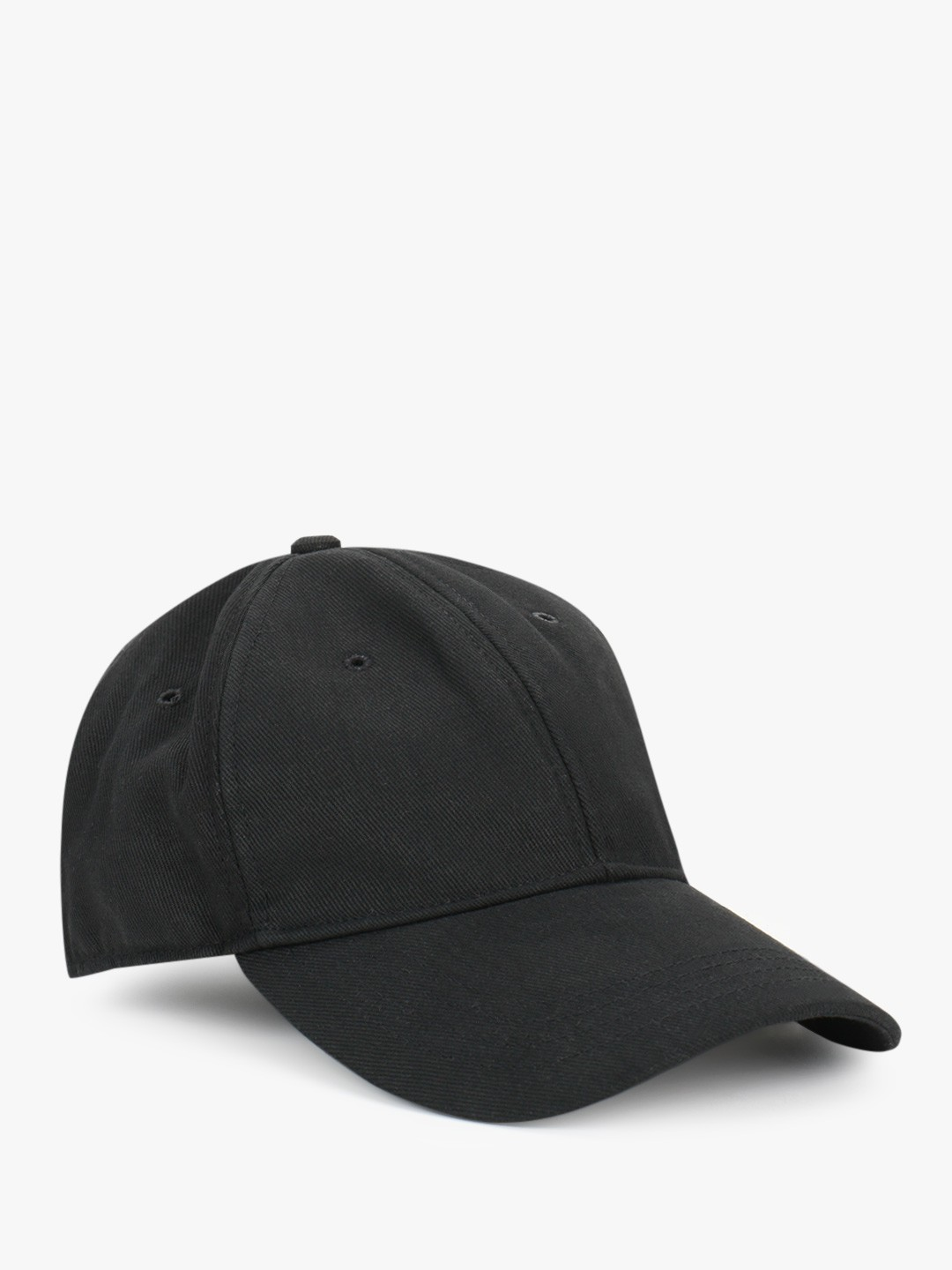 Blueberry Men Black Soft Curved Peak Cap 1