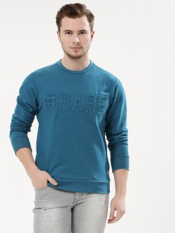 Flying Machine Front Embossed Sweatshirt
