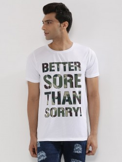 Adamo London Slogan Mesh T-Shirt