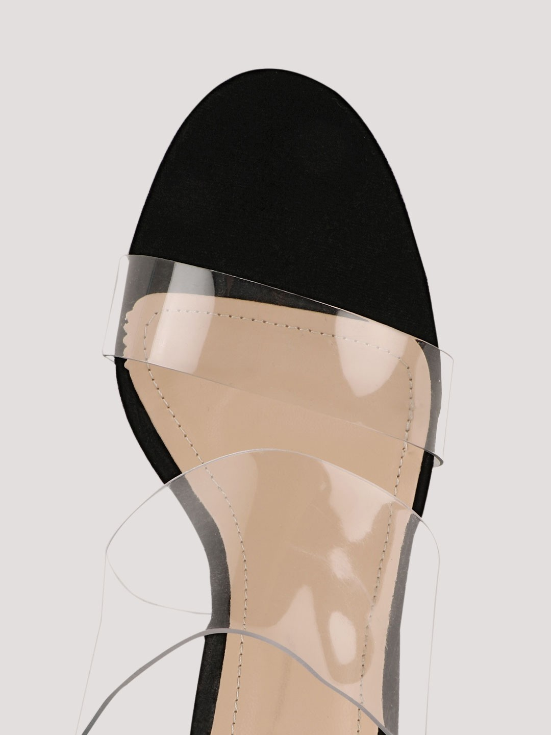 Buy Intoto Black Clear Clear Strap Mules For Girls Online
