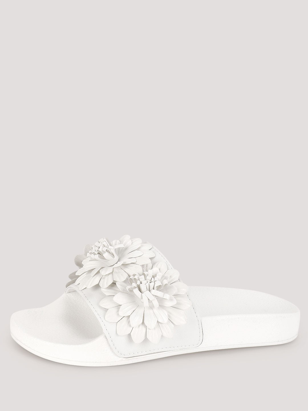 Truffle Collection White Floral Pool Sliders 1