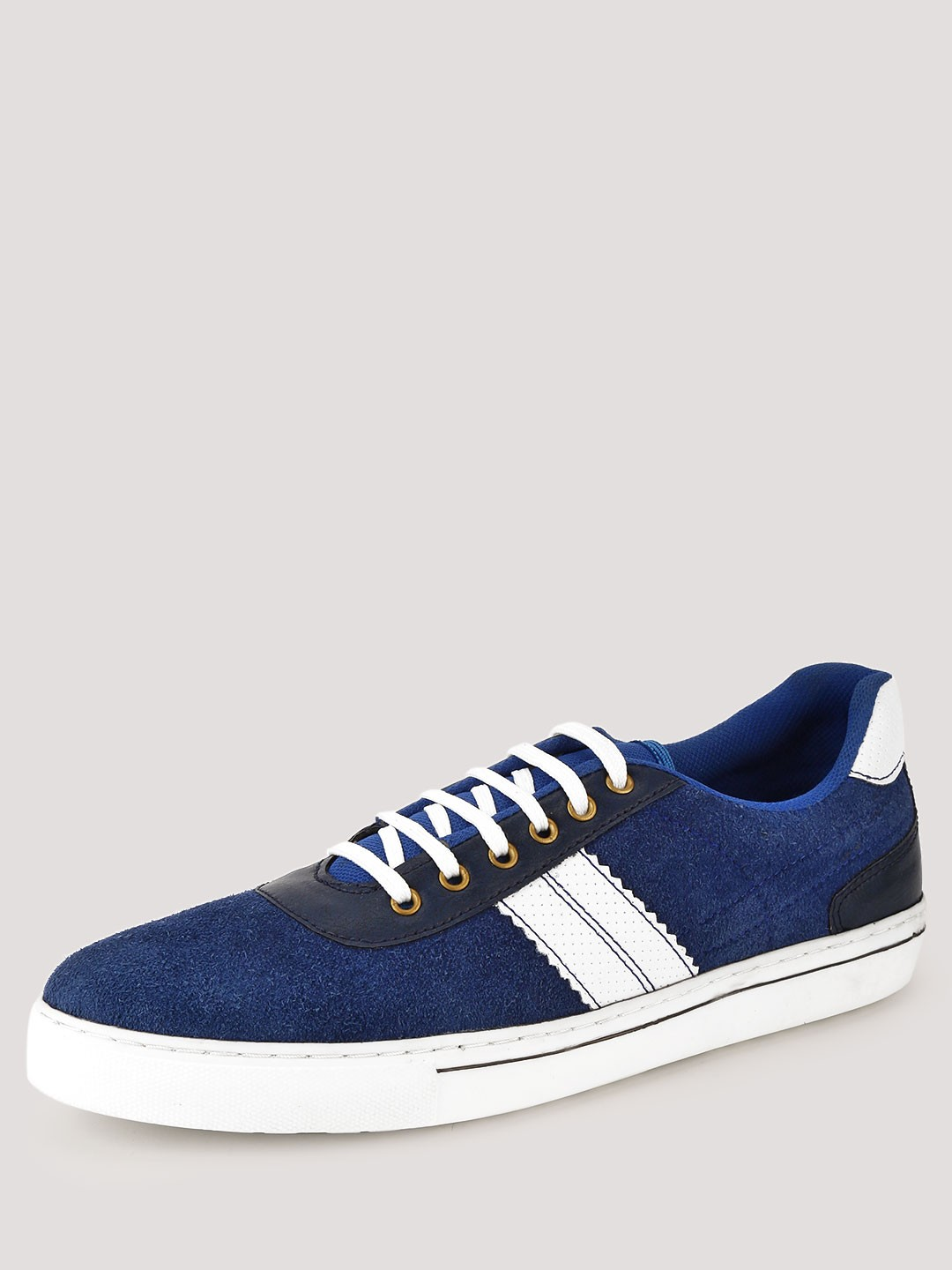 Heckler Navy/White Sneakers With Contrast Panel 1