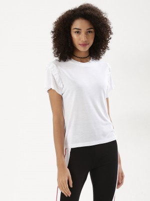 Koovs Frill Shoulder T-shirt offer