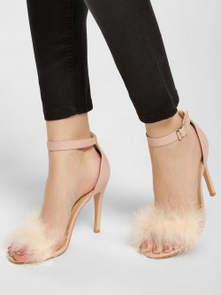 Truffle Collection Furry Heeled Sandals