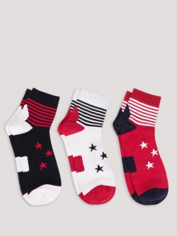 Soxytoes Superstars Ankle Length Socks (Pack Of 3)