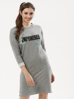 KOOVS Embroidered Sweater Dress